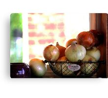 the Onion collection.. Canvas Print