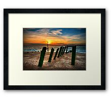The Old Pier At Sunset Framed Print