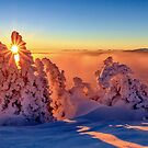 Sunset in the Alps by Zoltán Duray