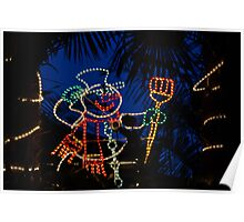 franklin road snowman - greeting card Poster