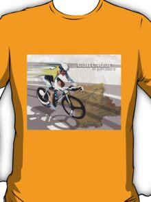 retro cycling poster Contador El Pistolero T-Shirt