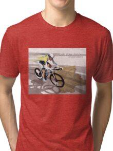 retro cycling poster Contador El Pistolero Tri-blend T-Shirt