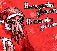 Cthulhu Claus Is Coming to Town by Villipede