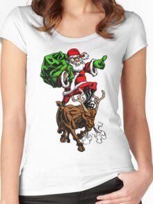 Santa Adventurer Extraordinaire  Women's Fitted Scoop T-Shirt