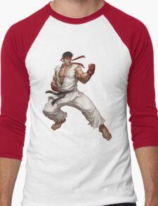 Street fighter-Ryu t shirt  Men's Baseball ¾ T-Shirt