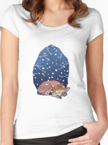 Sleeping Fawn Women's Fitted Scoop T-Shirt
