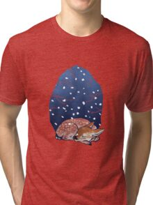 Sleeping Fawn Tri-blend T-Shirt
