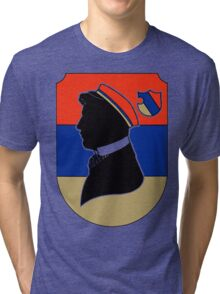 Vintage red and blue German student corps colours Tri-blend T-Shirt