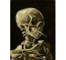 Vincent Van Gogh  - Head of a skeleton with a burning cigarette, 1886.  Photographic Print