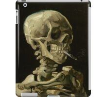 Vincent Van Gogh  - Head of a skeleton with a burning cigarette, 1886.  iPad Case/Skin