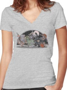 Where The Nasty Aliens Are Women's Fitted V-Neck T-Shirt