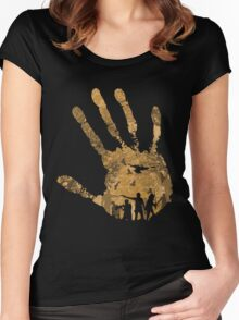 The Dead Walk!! Women's Fitted Scoop T-Shirt