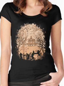 Autumn in Astoria 1 Women's Fitted Scoop T-Shirt