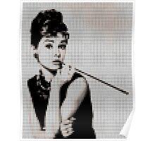 Audry Hepburn in dots Poster