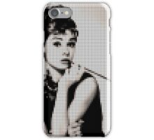 Audry Hepburn in dots iPhone Case/Skin
