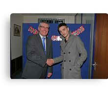 Tom Parker from The Wanted with John Riley Canvas Print
