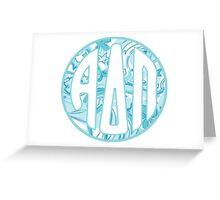 ΑΔΠ Monogram Greeting Card