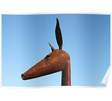 Rusty Kangaroo Head Poster