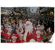Father Christmas In Bromley Kent Poster