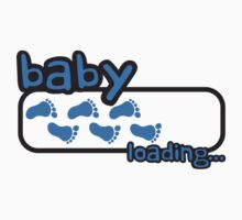 Baby Boy Loading Footprints Logo by Style-O-Mat