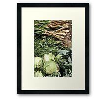 Vegetables at the Market Framed Print