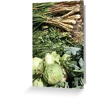 Vegetables at the Market Greeting Card