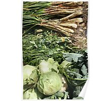 Vegetables at the Market Poster