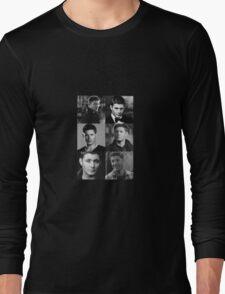 Dean Winchester Profile Edit Long Sleeve T-Shirt