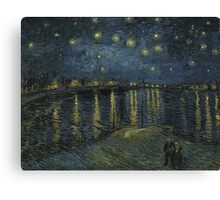 Vincent Van Gogh - Starry Night, Impressionism .Starry Night, 1888 Canvas Print