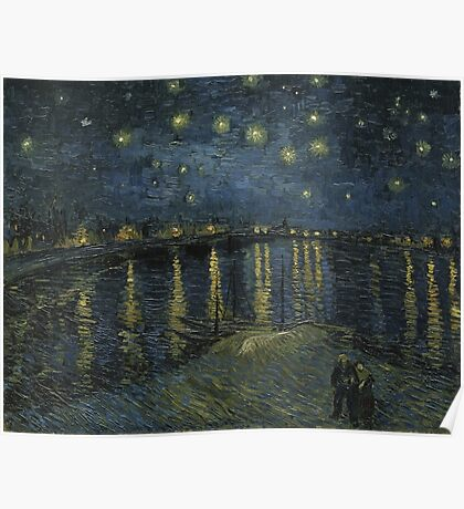 Vincent Van Gogh - Starry Night, Impressionism .Starry Night, 1888 Poster