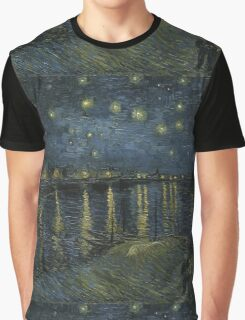 Vincent Van Gogh - Starry Night, Impressionism .Starry Night, 1888 Graphic T-Shirt