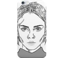 Cara Delevingne Monochrome iPhone Case/Skin