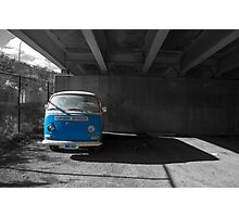 Blue Van Under The Ramp Photographic Print
