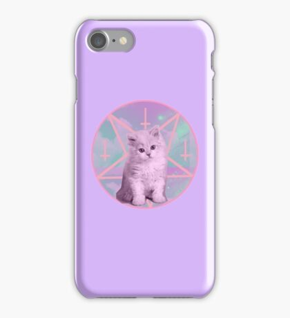 Satan and his Kitty, lilac. iPhone Case/Skin