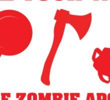 Zombie Apocalypse Choose Your Weapon Sticker