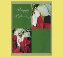 Mixed Color Poinsettias 2 Happy Holidays Q5F1 Kids Tee