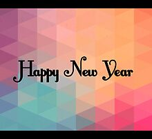 Retro Colorful Mosaic - New Year's Design by RumourHasIt