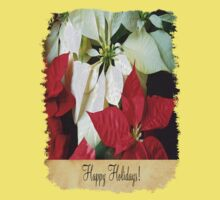Mixed Color Poinsettias 2 Happy Holidays S2F1 Kids Tee