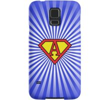 A letter in Superman style Samsung Galaxy Case/Skin