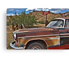 Corner of Brake and BurmaShave on Route 66 Canvas Print