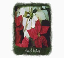 Mixed Color Poinsettias 2 Merry Christmas P1F1 Kids Tee