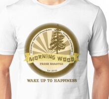 "MysticVessel T-Shirt ""Morning Wood Coffee"" Series ""Wake Up to Happiness"" Unisex T-Shirt"