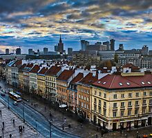 Warsaw City Skyline by pixog
