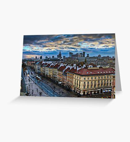 Warsaw City Skyline Greeting Card