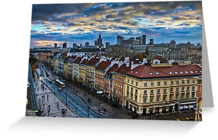 Warsaw City Skyline by pixog