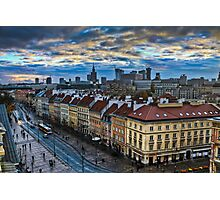 Warsaw City Skyline Photographic Print