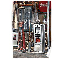 CocoCola 7Up and Gas Poster