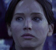 Katniss Everdeen/Jennifer Lawrence Painting by Philip Thompson