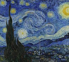 Vincent Van Gogh - Starry Night, 1889 by famousartworks