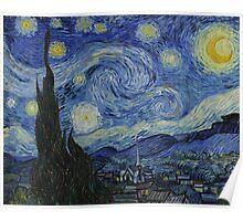 Vincent Van Gogh - Starry Night,  Impressionism .Starry Night, 1889 Poster